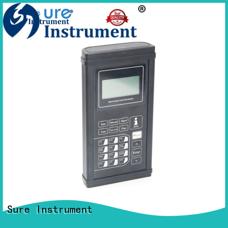 Sure portable ultrasonic flow meter factory for industry